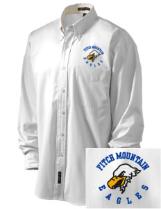 Fitch Mountain Primary School Eagles Embroidered Men's Easy-Care Shirt