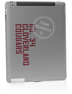 Cloverland Elementary School Cougars Apple iPad 2 Skin