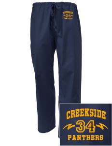 Creekside Middle School Panthers Embroidered Scrub Pants