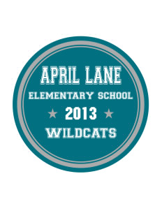 April Lane Elementary School Wildcats Sticker