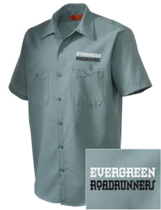 Evergreen Elementary School Roadrunners Embroidered Men's Cornerstone Industrial Short Sleeve Work Shirt