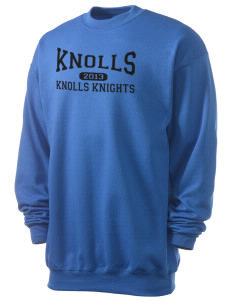 Knolls Elementary School Knolls Knights Men's 7.8 oz Lightweight Crewneck Sweatshirt