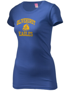 Olivehurst Elementary School Eagles  Juniors' Fine Jersey Longer Length T-Shirt