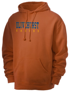 Olivehurst Elementary School Eagles Men's 80/20 Pigment Dyed Hooded Sweatshirt