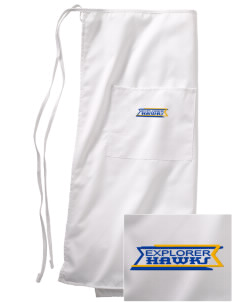 Explorer Elementary School Hawks Embroidered Full Bistro Bib Apron