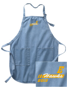 Explorer Elementary School Hawks Embroidered Full-Length Apron with Pockets