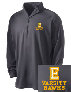 Explorer Elementary School Hawks Embroidered Men's Stretched Half Zip Pullover