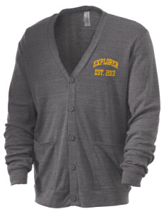 Explorer Elementary School Hawks Men's 5.6 oz Triblend Cardigan
