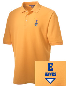 Explorer Elementary School Hawks Embroidered Men's Performance Plus Pique Polo