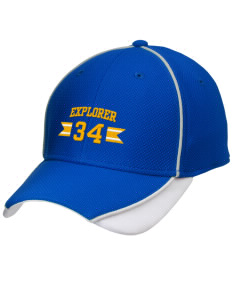 Explorer Elementary School Hawks Embroidered New Era Contrast Piped Performance Cap