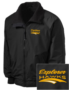 Explorer Elementary School Hawks Embroidered Tall Men's Challenger Jacket