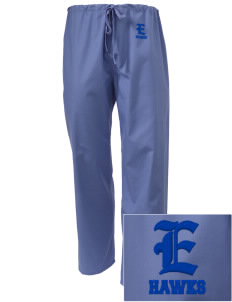 Explorer Elementary School Hawks Embroidered Scrub Pants