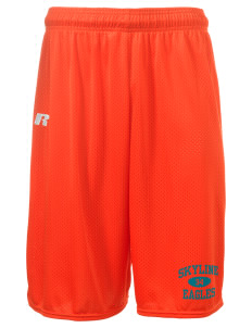 "Skyline Elementary School Eagles  Russell Deluxe Mesh Shorts, 10"" Inseam"