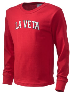 La Veta School Redskins  Kid's Long Sleeve T-Shirt