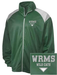 Wayne Ruble Middle Sdhool Wild Cats Embroidered Men's Tricot Track Jacket