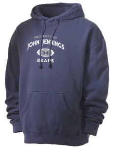 John J Jennings Elementary School Bears Men's 80/20 Pigment Dyed Hooded Sweatshirt