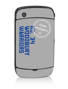 Woodbury Middle School Warriors Black Berry 8530 Curve Skin