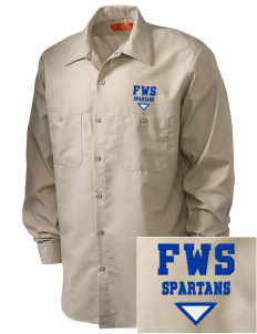Frank Ward Strong Middle School Spartans Embroidered Men's Industrial Work Shirt - Regular