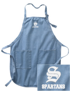 Frank Ward Strong Middle School Spartans Embroidered Full-Length Apron with Pockets