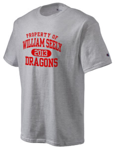 William Seely Elementary School Dragons Champion Men's Tagless T-Shirt