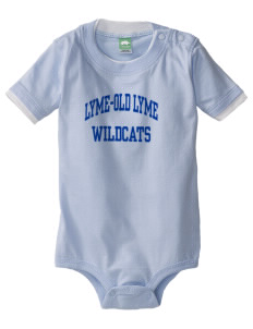 Lyme-Old Lyme Middle School Wildcats Baby One-Piece with Shoulder Snaps