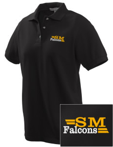 Stanton Middle School Falcons Embroidered Women's Pique Polo