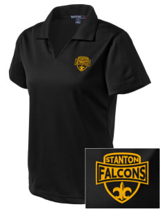 Stanton Middle School Falcons Embroidered Women's Dri Mesh Polo