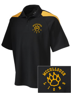 McCullough Elementary School Lions Embroidered Holloway Men's Frequency Performance Pique Polo