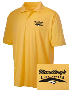 McCullough Elementary School Lions Embroidered Men's Micro Pique Polo