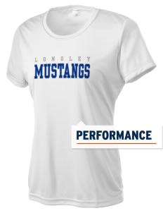 Longley Elementary School Mustangs Women's Competitor Performance T-Shirt