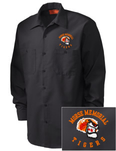 Morse Memorial Elementary School Tigers Embroidered Men's Industrial Work Shirt - Regular