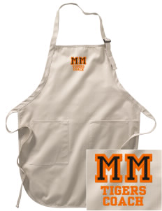 Morse Memorial Elementary School Tigers Embroidered Full-Length Apron with Pockets