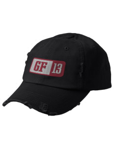 George Fox Middle School Foxes Embroidered Distressed Cap