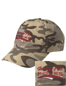 George Fox Middle School Foxes Embroidered Camouflage Cotton Cap