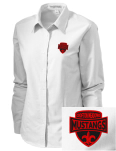 Crofton Meadows Elementary School Mustangs Embroidered Women's Classic Oxford