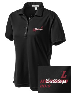 Lawrence School Bulldogs  Embroidered Women's Bamboo Charcoal Birdseye Jacquard Polo