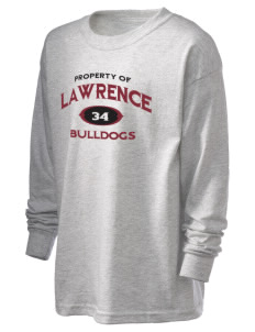 Lawrence School Bulldogs Kid's 6.1 oz Long Sleeve Ultra Cotton T-Shirt