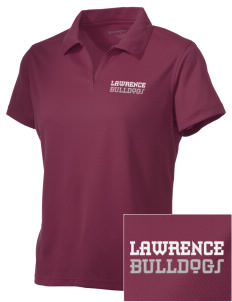 Lawrence School Bulldogs Embroidered Women's Double Mesh Polo