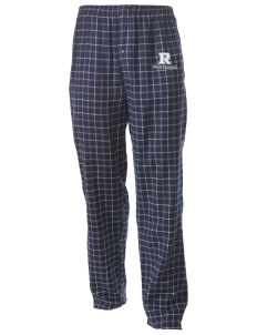 Ramona Elementary School Mustangs Men's Button-Fly Collegiate Flannel Pant with Distressed Applique