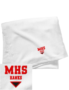 Milford High School Hawks Embroidered Beach Towel