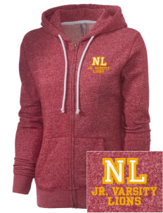New Ludlow Elementary School Lions Embroidered Women's Marled Full-Zip Hooded Sweatshirt