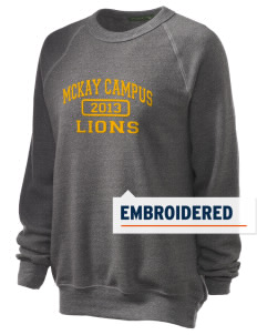 McKay Campus Elementary School Lions Embroidered Unisex Alternative Eco-Fleece Raglan Sweatshirt