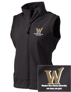 Western New Mexico University Mustangs  Embroidered Women's Glacier Soft Shell Vest