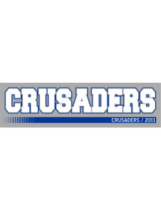 "Peridot-Our Savior's Lutheran School Crusaders Bumper Sticker 11"" x 3"""