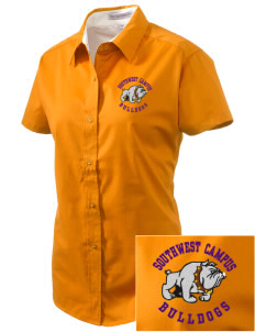 Southwest Community Campus Bulldogs Embroidered Women's Easy Care Short Sleeve Shirt