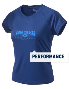 Vista del Mar School Makos Champion Women's Wicking T-Shirt