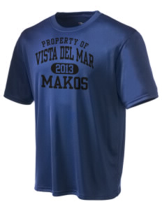 Vista del Mar School Makos Champion Men's Wicking T-Shirt