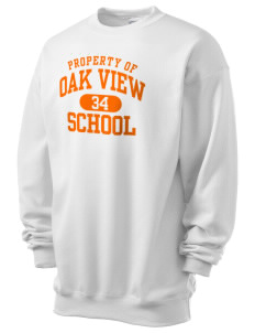 Oak View School Men's 7.8 oz Lightweight Crewneck Sweatshirt