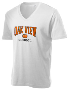 Oak View School Alternative Men's 3.7 oz Basic V-Neck T-Shirt