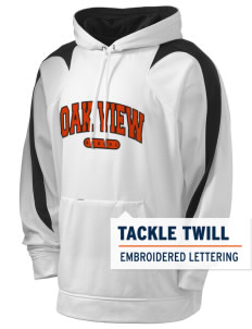 Oak View School Holloway Men's Sports Fleece Hooded Sweatshirt with Tackle Twill